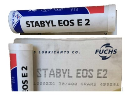 Grease Stabyl EOS E 2 Fuchs 66111000234 Case OF 30 Each 400 GR Cartridge
